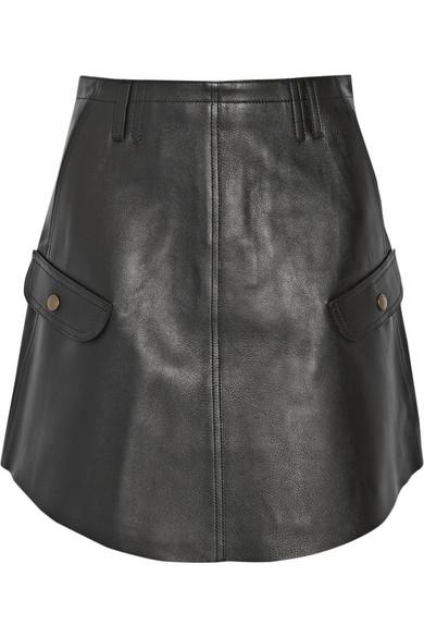 coach leather mini skirt net a porter