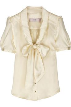 LuellaBow-embellished silk blouse