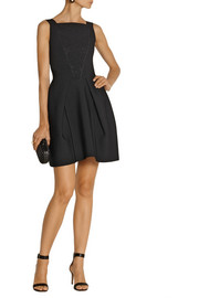Roland Mouret Eumorpha paneled stretch-knit mini dress