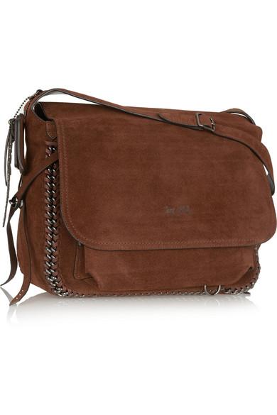 Coach   Dakotah chain-trimmed suede shoulder bag   NET-A ...