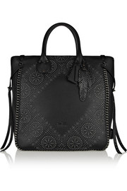 Coach Tatum studded textured-leather tote