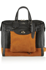 Coach Workwear Rhyder 33 textured-leather and suede tote