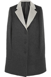 Richard Nicoll Brushed wool and angora-blend cape