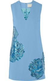 Richard Nicoll Sequin-embellished stretch-crepe mini dress