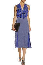 Richard Nicoll Ruffled wool-blend jacquard midi dress