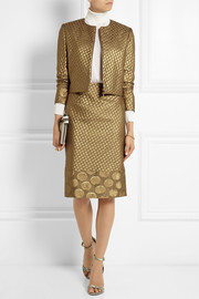 Richard Nicoll Polka dot-jacquard pencil skirt