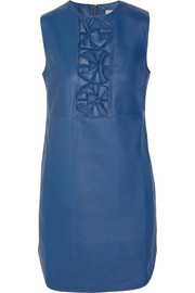 Richard Nicoll Origami-detailed leather mini dress