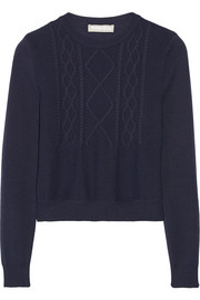Richard Nicoll Cropped cable-knit sweater