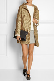Richard Nicoll Hooded wool-blend jacquard parka
