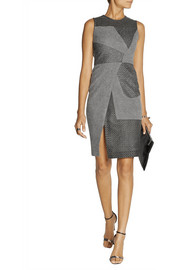 Prabal Gurung Paneled wool-blend bouclé dress