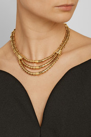 Fred Leighton 1940s 18-karat gold layered necklace