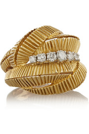 Fred Leighton 1960s 18-karat gold diamond ring