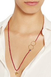 Inez and Vinoodh Ruby and sapphire necklace
