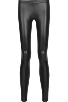 Kova & T Cropped wet-look leggings