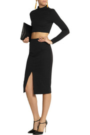 Jonathan Simkhai Embossed stretch-jersey pencil skirt