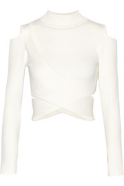 Jonathan Simkhai Cutout stretch-knit turtleneck top