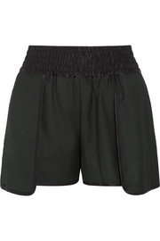 Stretch-satin twill shorts