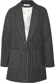 Elizabeth and James Carson pinstriped wool-blend coat
