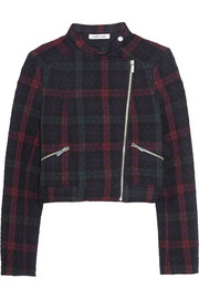 Patti quilted plaid jersey jacket
