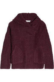 Elizabeth and James Hooded chunky-knit sweater