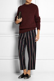 Elizabeth and James Tilden striped wool-blend wide-leg pants
