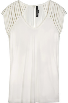 Alexander Wang Cage-sleeved jersey top