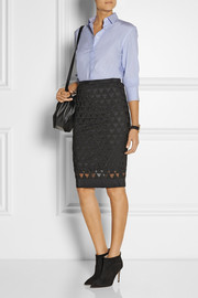 Elizabeth and James Cooper embroidered tulle pencil skirt