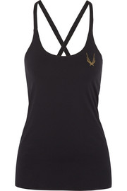 Lucas Hugh Cross Back stretch-jersey tank