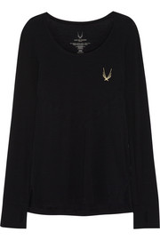 Lucas Hugh Core Performance stretch wool-blend jersey top