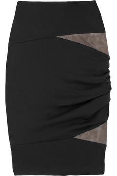 Alexander Wang Cutout jersey skirt