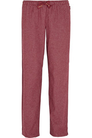 Plaid cotton-flannel pajama pants