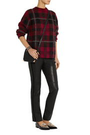 M Missoni Plaid mohair-blend sweater