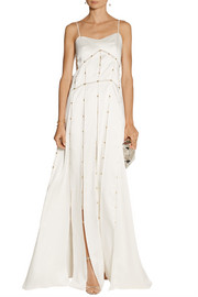 Derek Lam Beaded cutout satin gown