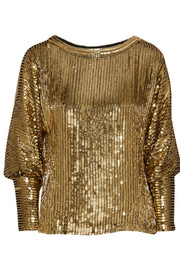 Haney Sequined silk top
