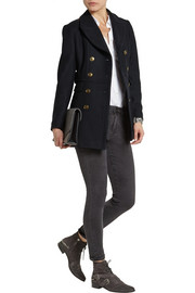 Burberry Brit Double-breasted wool-blend twill peacoat