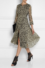 Burberry Brit Printed silk-georgette midi dress