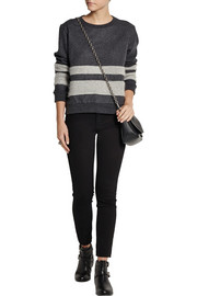 Burberry Brit Paneled wool-blend sweater