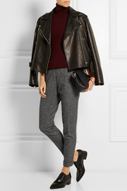 Burberry Brit Wool-blend tweed tapered pants