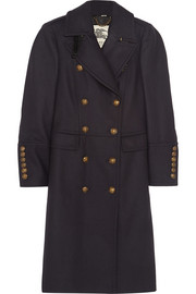 Burberry London Leather-trimmed wool-blend trench coat