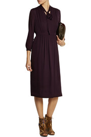 Burberry London Silk-crepe midi dress