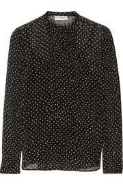 Burberry London Polka-dot silk-georgette blouse