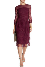 Burberry Prorsum Embroidered tulle dress