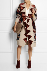 Burberry Prorsum Intarsia knitted blanket coat