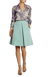 Burberry Prorsum Printed silk-georgette blouse