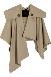 Burberry Prorsum Cotton-gabardine trench cape