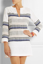 LemLem Rucha striped cotton-blend gauze tunic