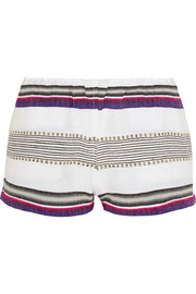 LemLem Rucha striped cotton-blend shorts