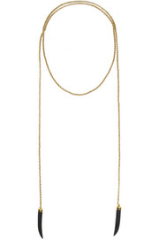 Ashley Pittman Mkuki bronze and horn necklace