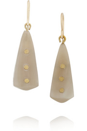 Ashley Pittman Doa horn and bronze earrings