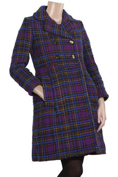 Marc by Marc Jacobs Checked wool-blend long coat